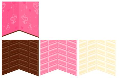 壁紙ビビッドピンクハート・壁紙板チョコ 各色
