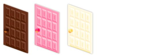 ドア板チョコビター・ドア板チョコ苺・ドア板チョコホワイト