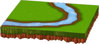 小川のある新緑シート C