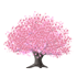 桜の木A 濃ピンク