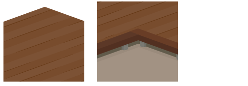 板の間濃茶・土間セット