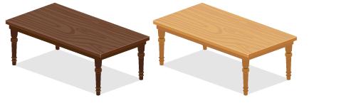 パイン材テーブル長濃茶・パイン材テーブル長薄茶
