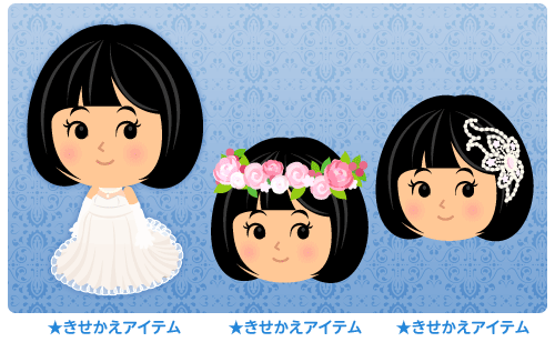 ロングトレーンドレス・花冠ローズピンク・ジュエリーの髪飾り