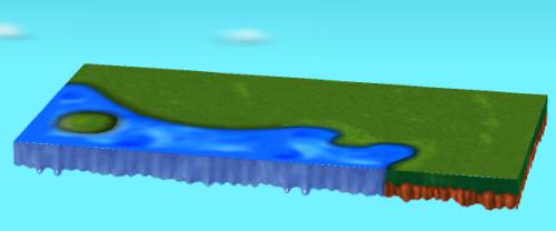 左側:水辺のあるシートD  右側:水辺のあるシートA