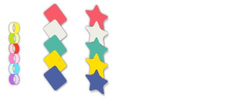 七夕輪飾り・ひし形つづり・星つづり