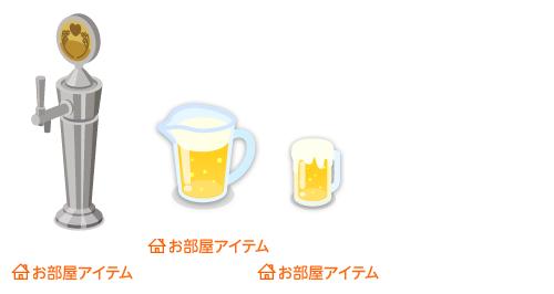 ビールサーバー注ぎ口・居酒屋ビールピッチャー・居酒屋ジョッキ生