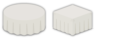 クロス付きテーブル丸・クロス付きテーブル