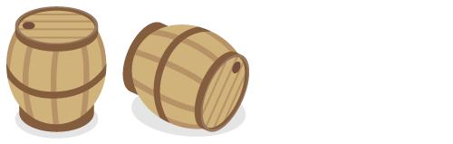 ワイン樽立・ワイン樽横