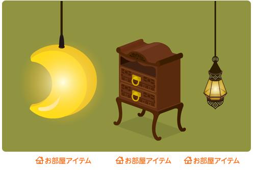ペンダントライトムーン・脚付チェスト・ペンダント照明しずく型