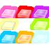 丈夫な光る敷石 8色セット