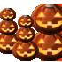 丈夫なかぼちゃランプA 4種8個