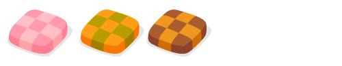 格子クッキーいちご・格子クッキーパンプキン・格子クッキーココア