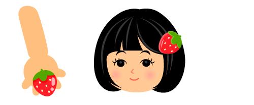 いちご指輪・苺ヘアピン