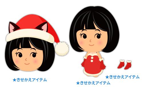ネコ耳サンタ帽赤・サンタデコルテ赤・サンタヒールボア付赤