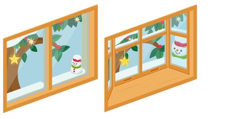 クリスマスデイ小窓・クリスマスデイ出窓
