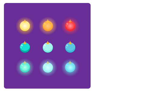 クーゲル山吹光・クーゲル橙光・クーゲル赤光・クーゲル孔雀・クーゲルスカイ・クーゲルターコイズ・クーゲル孔雀光・クーゲルスカイ光・クーゲルターコイズ光