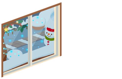 クリスマスナイト掃出窓