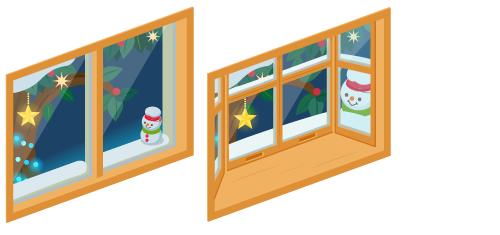 クリスマスナイト小窓・クリスマスナイト出窓