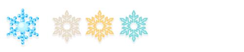 雪オーナメントドット青・雪オーナメントシルバー・雪オーナメントゴールド・雪オーナメントホワイト