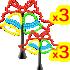 イルミネーション ベル 2種6個