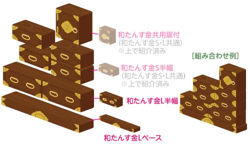 和たんす金Lベース・和たんす金L半幅