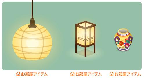 和紙ペンダント照明・行灯・花模様の壺