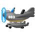 水陸両用飛行機 グレー