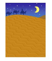 背景:砂漠のキャラバン夜