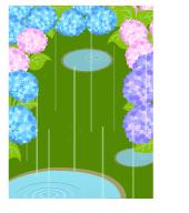 背景:雨の日水たまり
