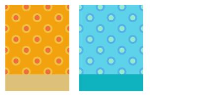 背景:水玉W太陽・背景:水玉W海底