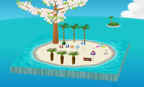 晴れた日のビーチ