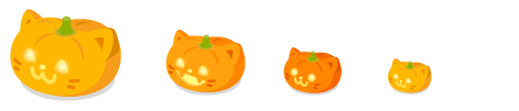 猫ランタン大・猫ランタンキバ中・猫ランタン丸目小・猫ランタンプチ