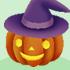 でかかぼちゃランプB 魔法使い