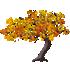 カエデの木C 橙 左向き