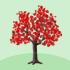 でかカエデの木A 赤
