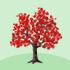 カエデの木A 赤