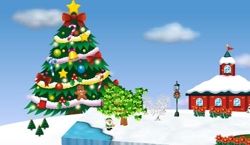 コイコイクリスマスツリーを3個飾った時のクリスマスツリー昼