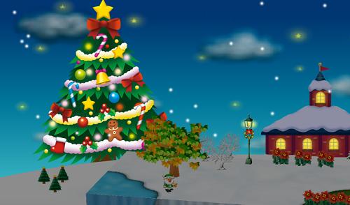 コイコイクリスマスツリーを3個飾った時のクリスマスツリー夜