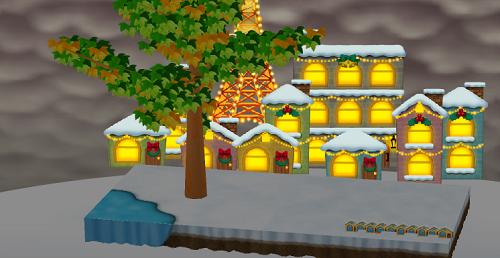 スノークリスマスシートに「コイコイクリスマスタウン」を飾った場合