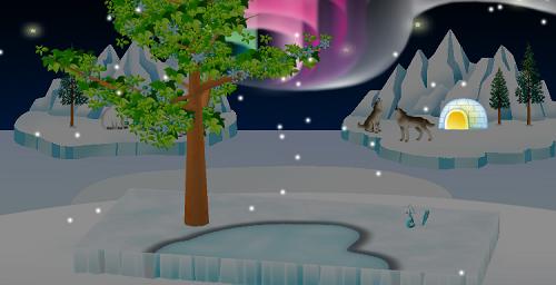 氷の世界シートでの効果は変わりません。