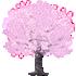 桜の木D 薄ピンク