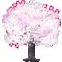 桜の木D 白