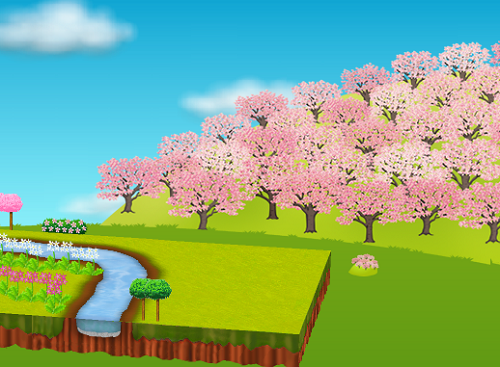 コイコイ桜の山 右