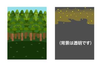 背景:杉林・花粉フレーム