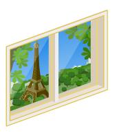パリの街が見える小窓