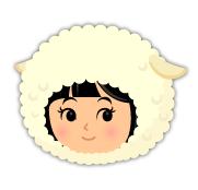 羊のかぶりもの