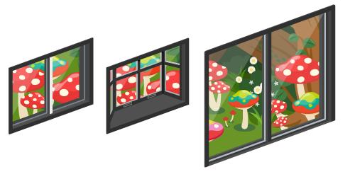 アリスの森の小窓・アリスの森の出窓・アリスの森の掃出窓