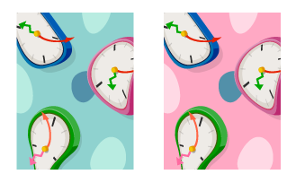 背景:ゆがんだ時計青・背景:ゆがんだ時計ピンク