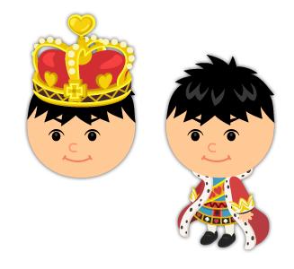 ハートの王の冠・ハートの王の衣装