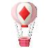 トランプマークの気球 ダイヤ